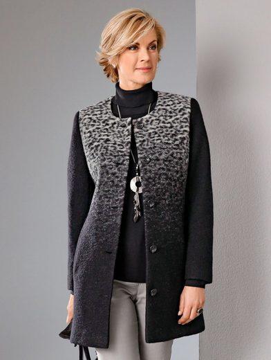 Paola Kurzmantel mit Wolle