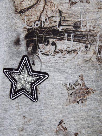 Amy Vermont Shirt mit Druck und Applikation