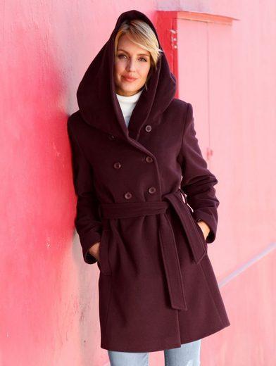 Paola Woll-Kurzmantel mit Gürtel