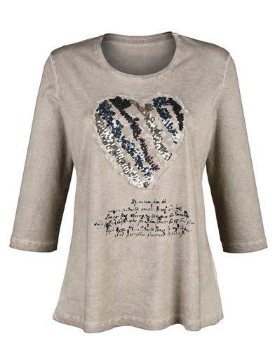 Alba Moda Shirt With Heart Motif