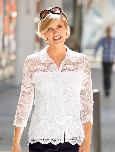 Paola Shirt Blouse With Lace