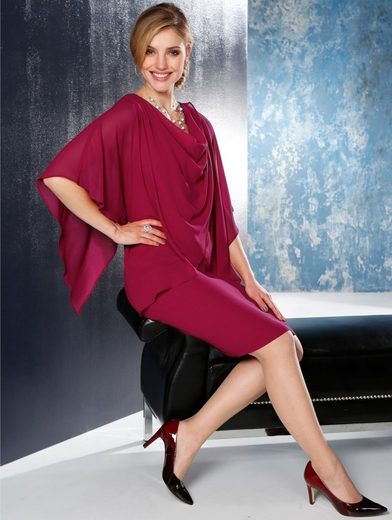 Mona Kleid mit festem Überwurf