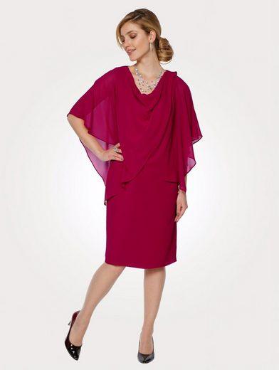 Mona Kleid mit festem Überwurf, Raffiniert - wirkt wie