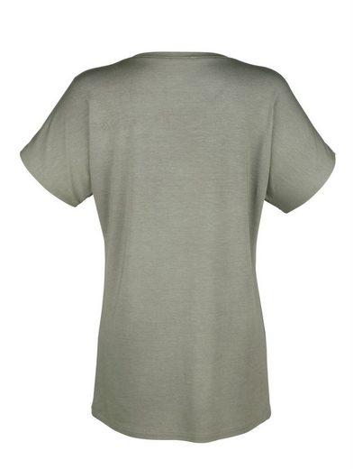 Amy Vermont Shirt mit kontrastfarbener Brusttasche