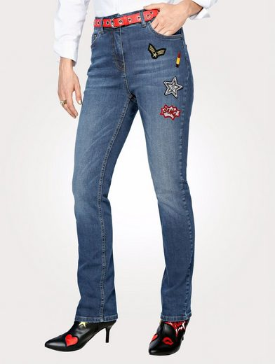 Mona Jeans With Fashionable Patches