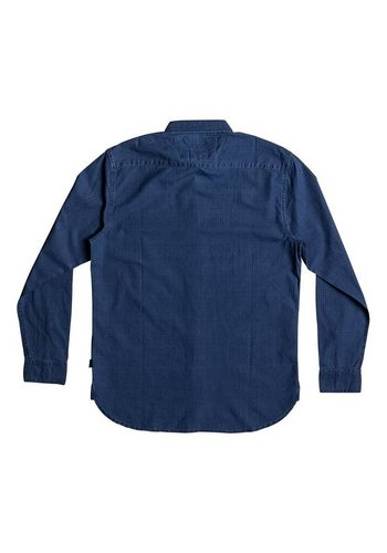 - Herren Quiksilver Langarm-Hemd Indigo Rise blau | 03613372942006