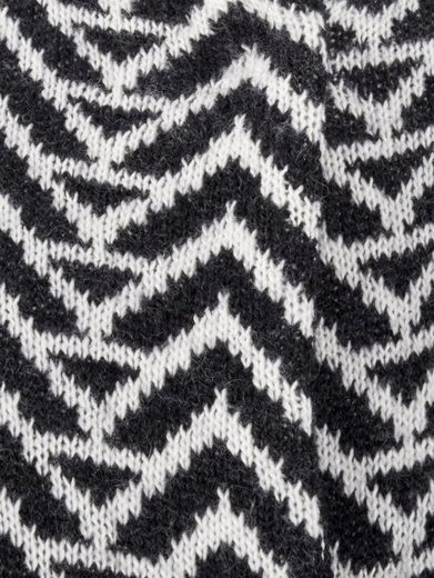 Mona Longstrickjacke mit Jacquard-Muster