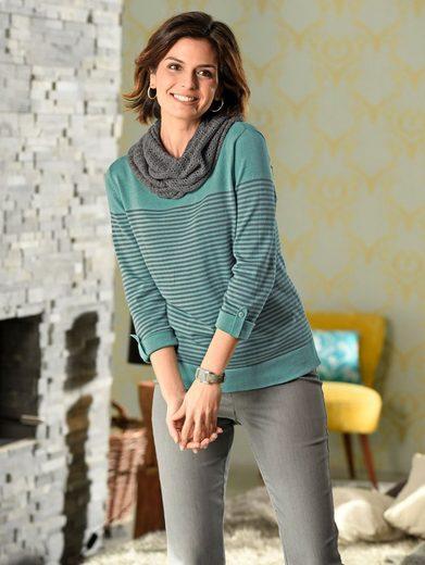 Mona Pullover mit Schal