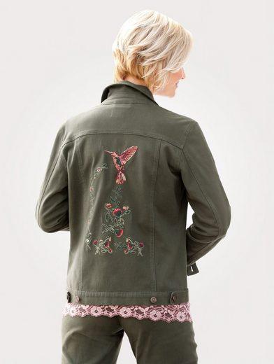 Mona Jeansjacke mit anspruchsvoller Stickerei