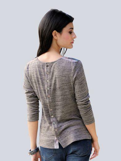 Alba Moda Shirt mit Knopfleiste im Rückenteil