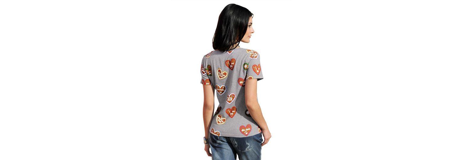Alba Moda T-Shirt mit Strasssteinchen Online Bestellen wPty6h