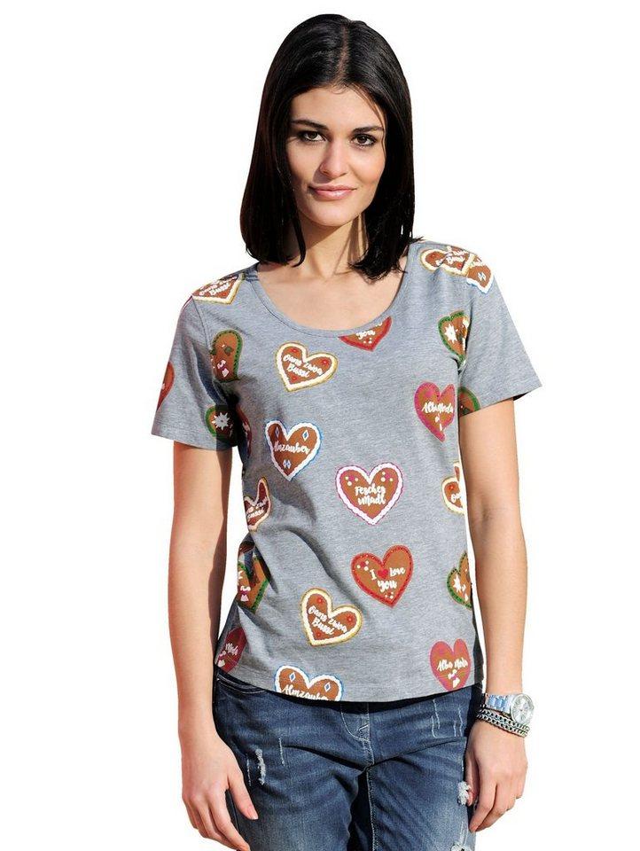 Damen Alba Moda  T-Shirt mit Strasssteinchen bunt,  mehrfarbig | 04055715418608