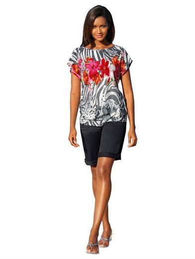 Alba Moda Bermuda-Shorts aus leicht glänzender Satin-Ware