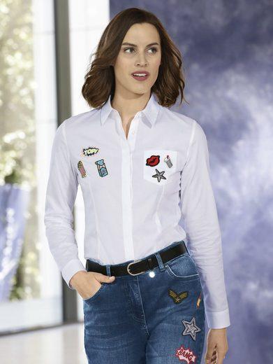Mona Bluse mit trendigen Patches