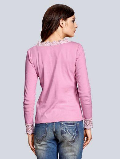 Alba Moda Shirt in feiner Rippenstruktur
