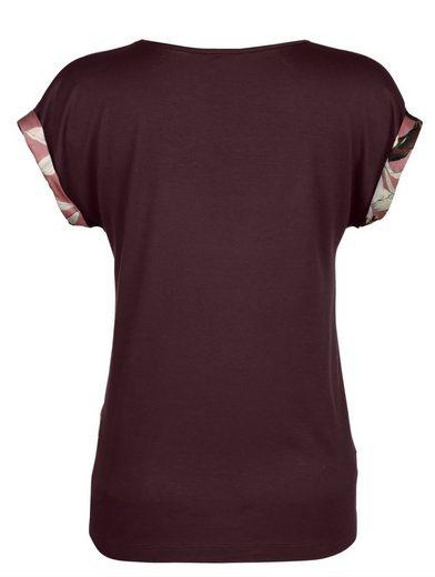 Alba Moda Druckshirt Aus hochwertiger reiner Seide im Vorderteil