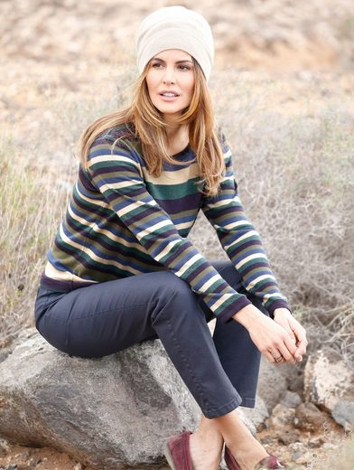 Mona Pullover mit Ringel-Muster