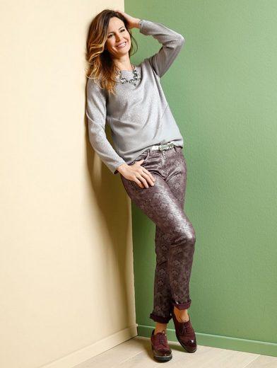 Mona Hose mit modischem Glanzdruck