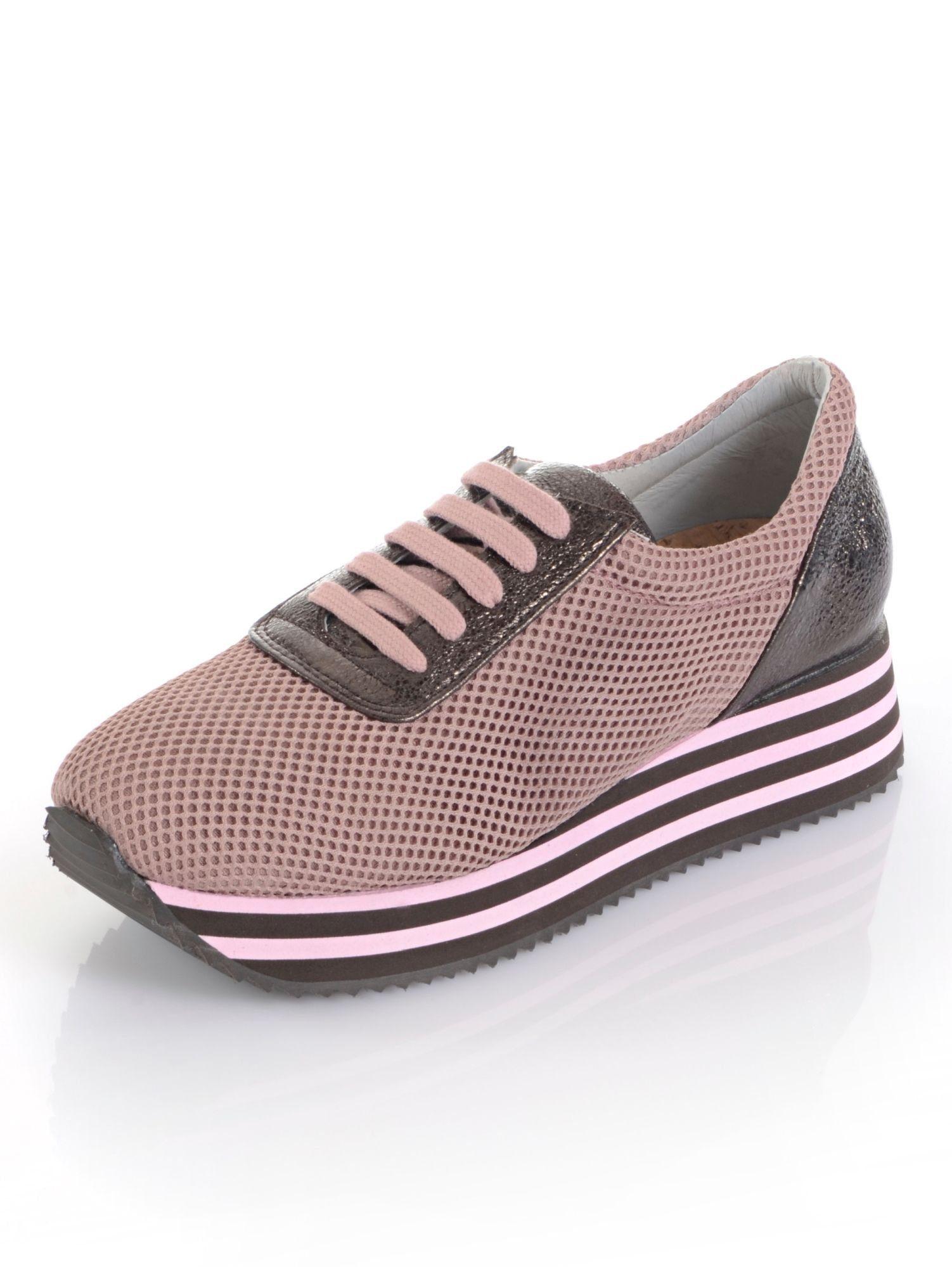 Alba Moda Sneaker im Mesh-Look online kaufen  altrosé#ft5_slash#braun