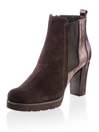 Alba Moda Ankle Boot In Leather Mix