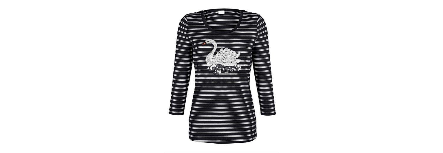Alba Moda Ringel-Shirt Paillettenmotiv im Vorderteil Erkunden jWraluID
