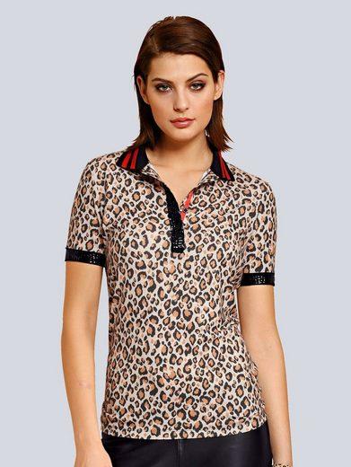Alba Moda Poloshirt im Leodessin