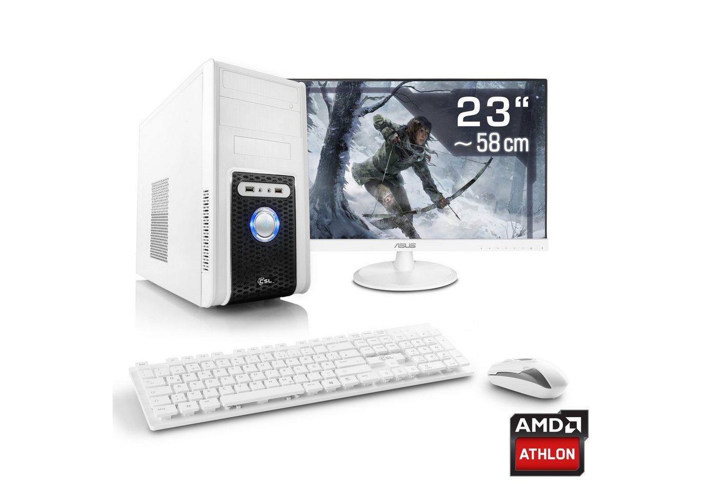 CSL Gaming PC Set Athlon X4 950   GTX 1050   8GB RAM   23 TFT »Sprint T4911 Windows 10 Home« - Preisvergleich