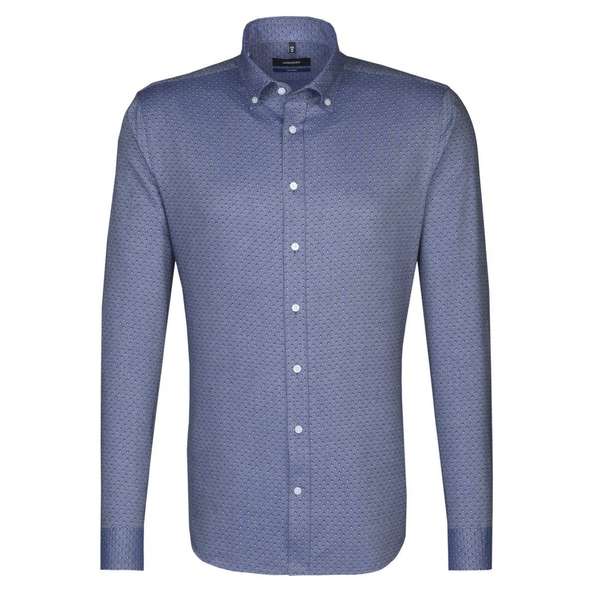 Herren seidensticker Businesshemd Tailored, Button-Down-Kragen blau | 04048869363801