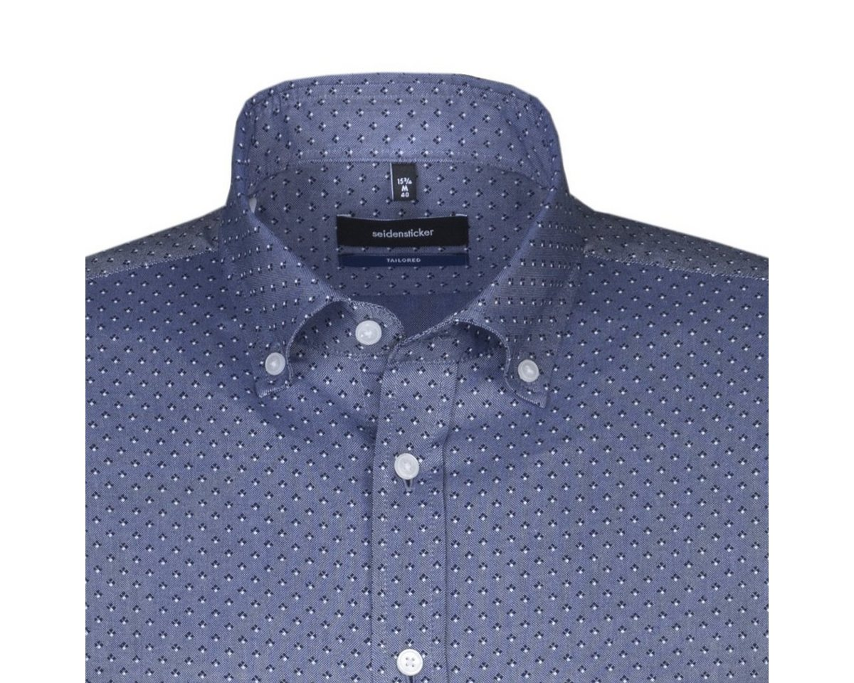 - Herren seidensticker Businesshemd Tailored, Button-Down-Kragen blau | 04048869363801