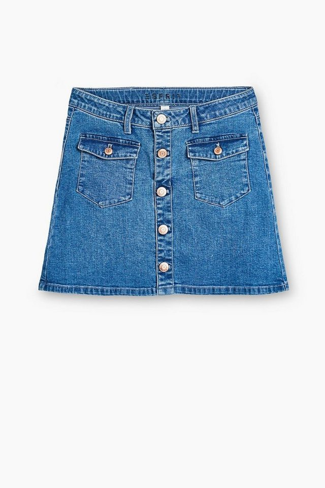 esprit jeans rock mit taschen und knopfleiste otto. Black Bedroom Furniture Sets. Home Design Ideas