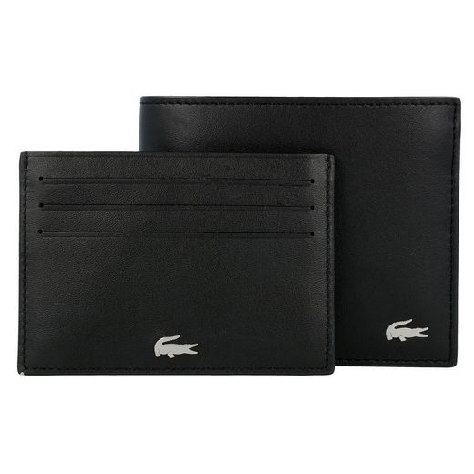 Lacoste FG Geschenkset 2tlg. Geldbörse + Kreditkartenetui Leder 11.5 cm