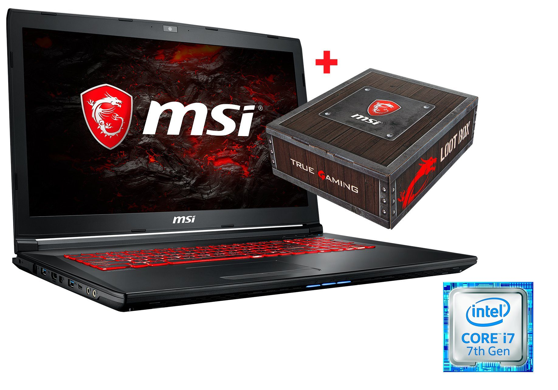 "MSI 17,3"", i7-7700HQ, 16GB, SSD + HDD, GeForce® GTX 1050 TI »GL72M 7REX-1056DE (001799-1056)«"