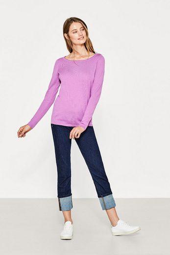 ESPRIT Feinstrick-Pullover mit Trend-Ausschnitt
