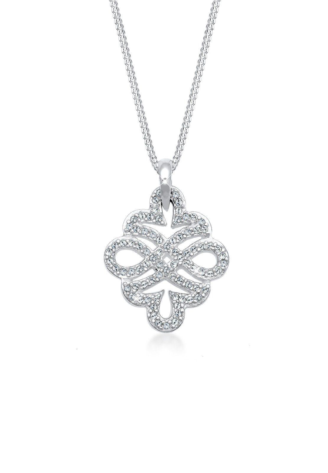 Elli Halskette »Ornament Infinity Swarovski® Kristalle Silber Leja«