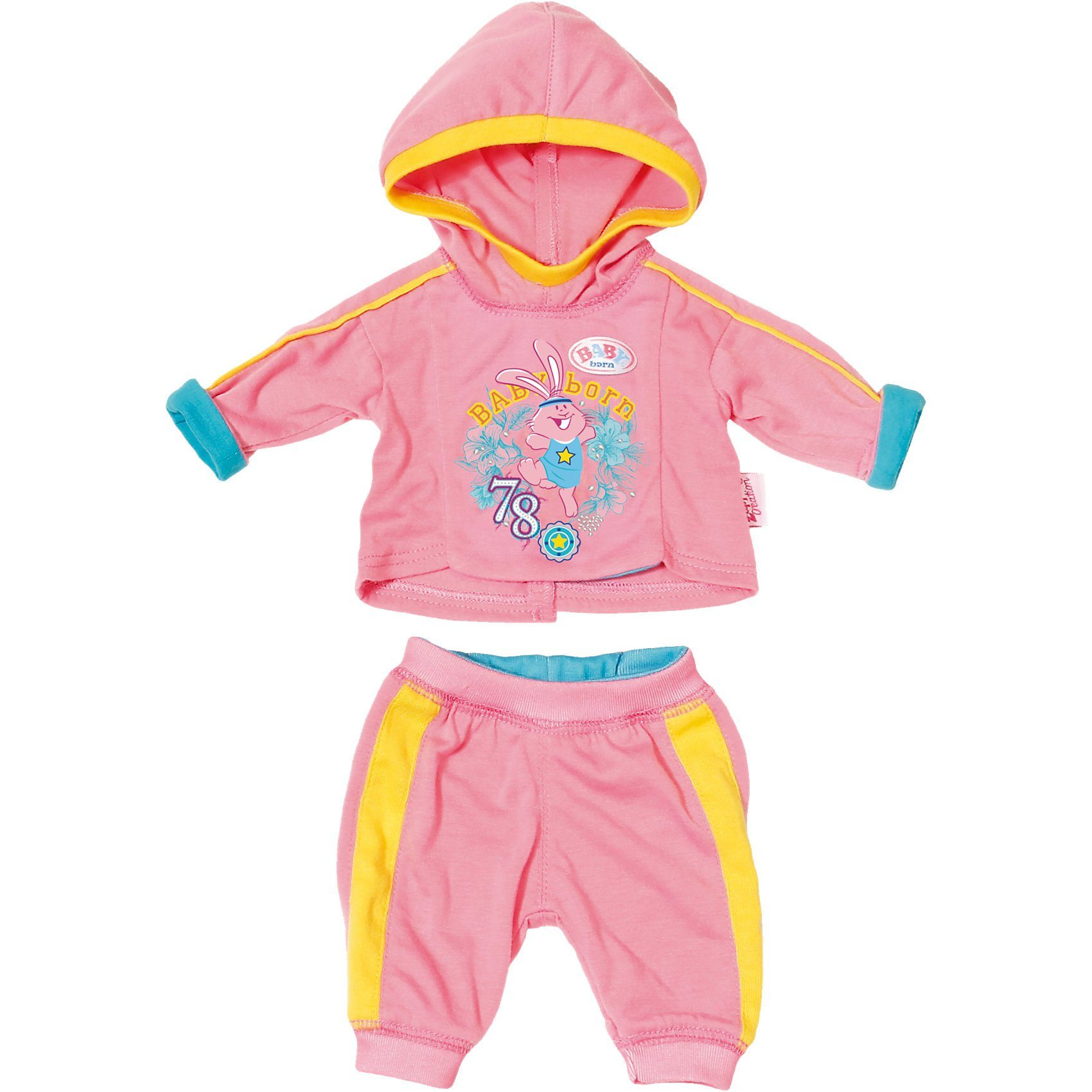 Zapf Creation BABY born® Jogginganzug Rosa Puppenkleidung, 43 cm