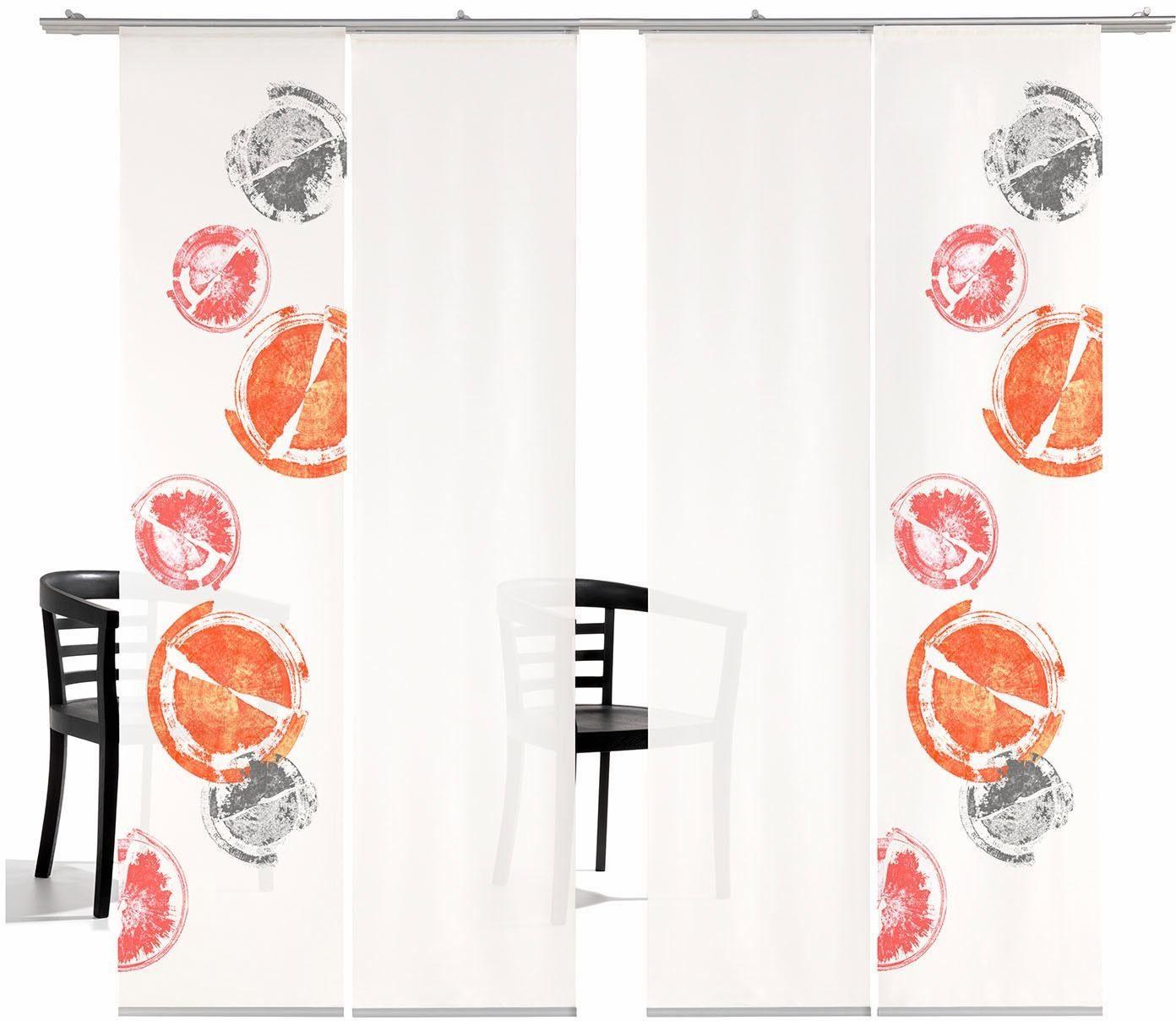 Schiebegardine »Rondo HA«, emotion textiles, Klettband (4 Stück), inkl. Befestigungszubehör