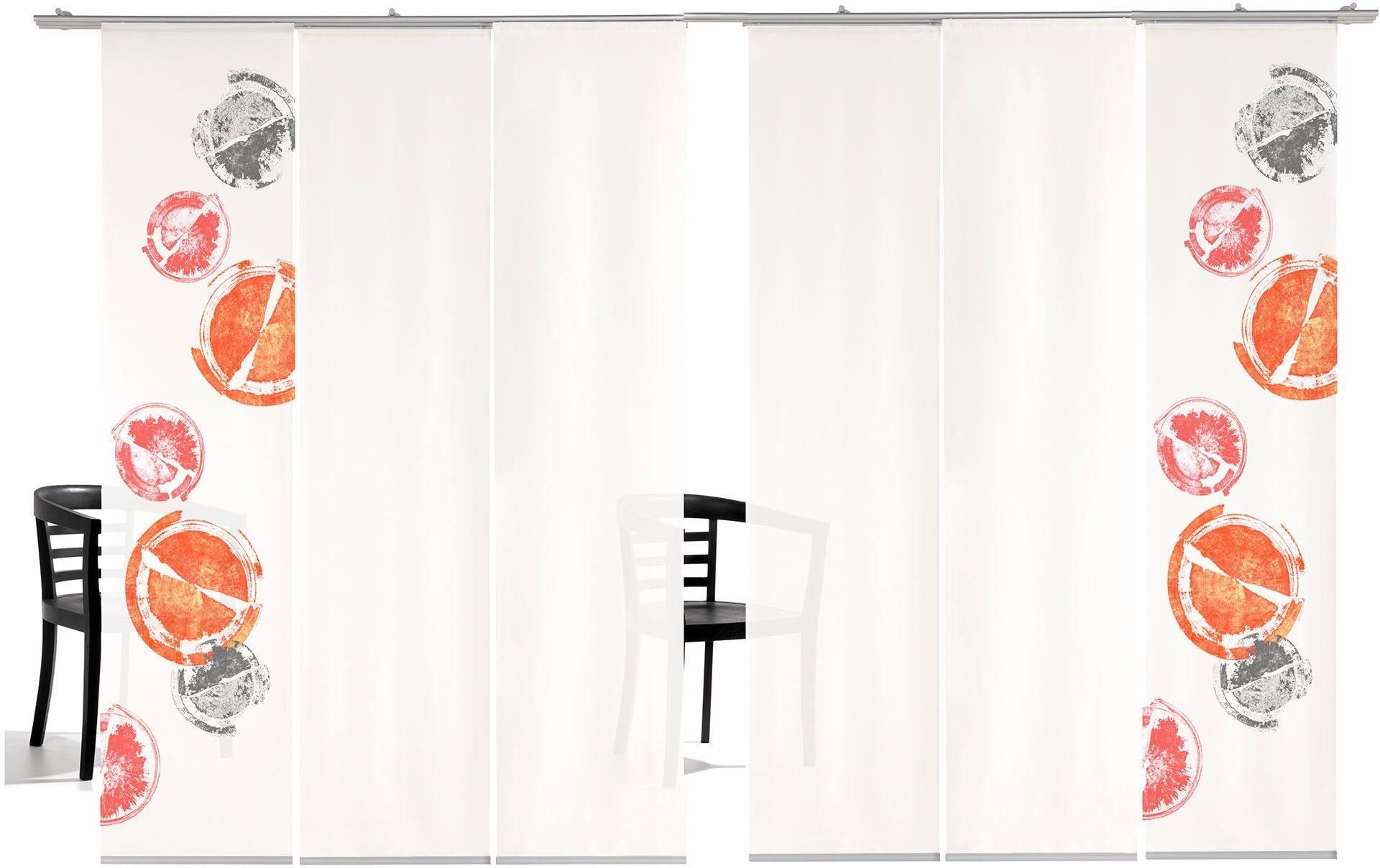 Schiebegardine »Rondo HA«, emotion textiles, Klettband (6 Stück), inkl. Befestigungszubehör