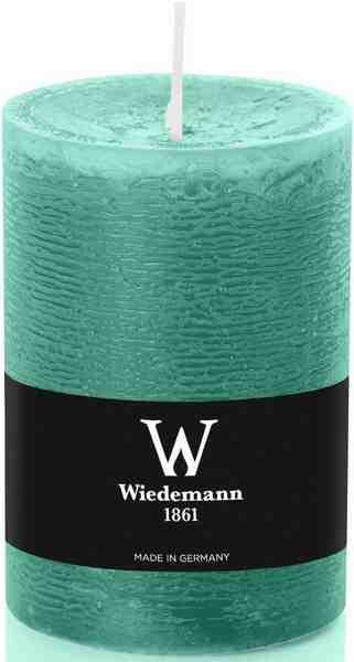 Wiedemann Marble durchgefärbte Kerze mit Banderole im 8er-Set, Ø 6,8 cm in 2 Größen