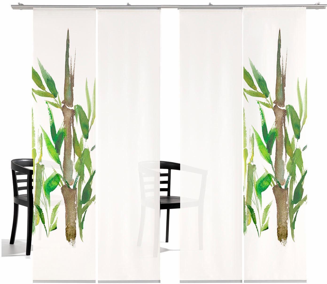 Schiebegardine »Bambus HA«, emotion textiles, Klettband (4 Stück), inkl. Befestigungszubehör