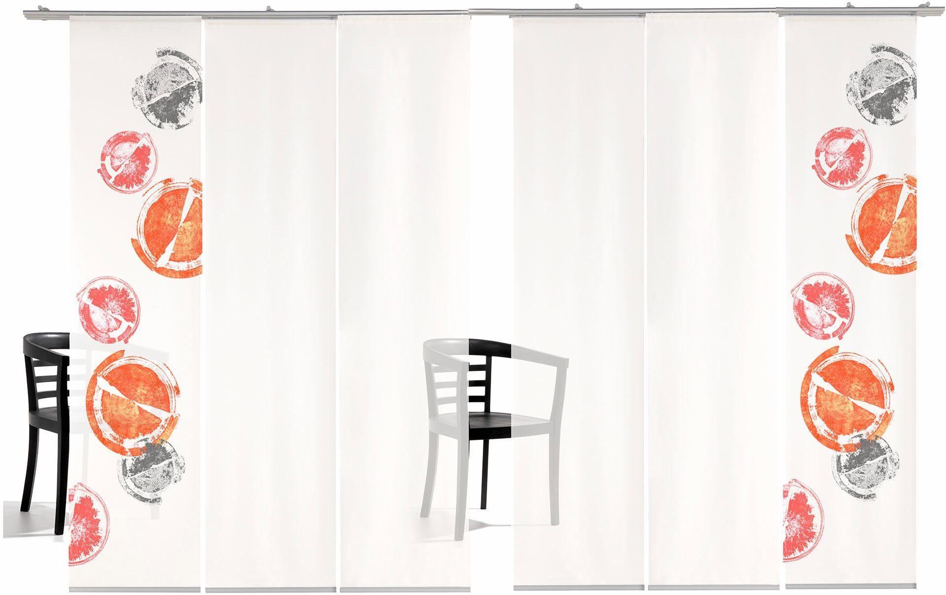 Schiebegardine »Rondo TR«, emotion textiles, Klettband (6 Stück), inkl. Befestigungszubehör