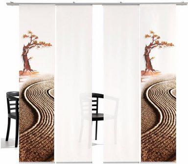 Schiebegardine »Bonsai HA«, emotion textiles, Klettband (4 Шт), inkl. Befestigungszubehör