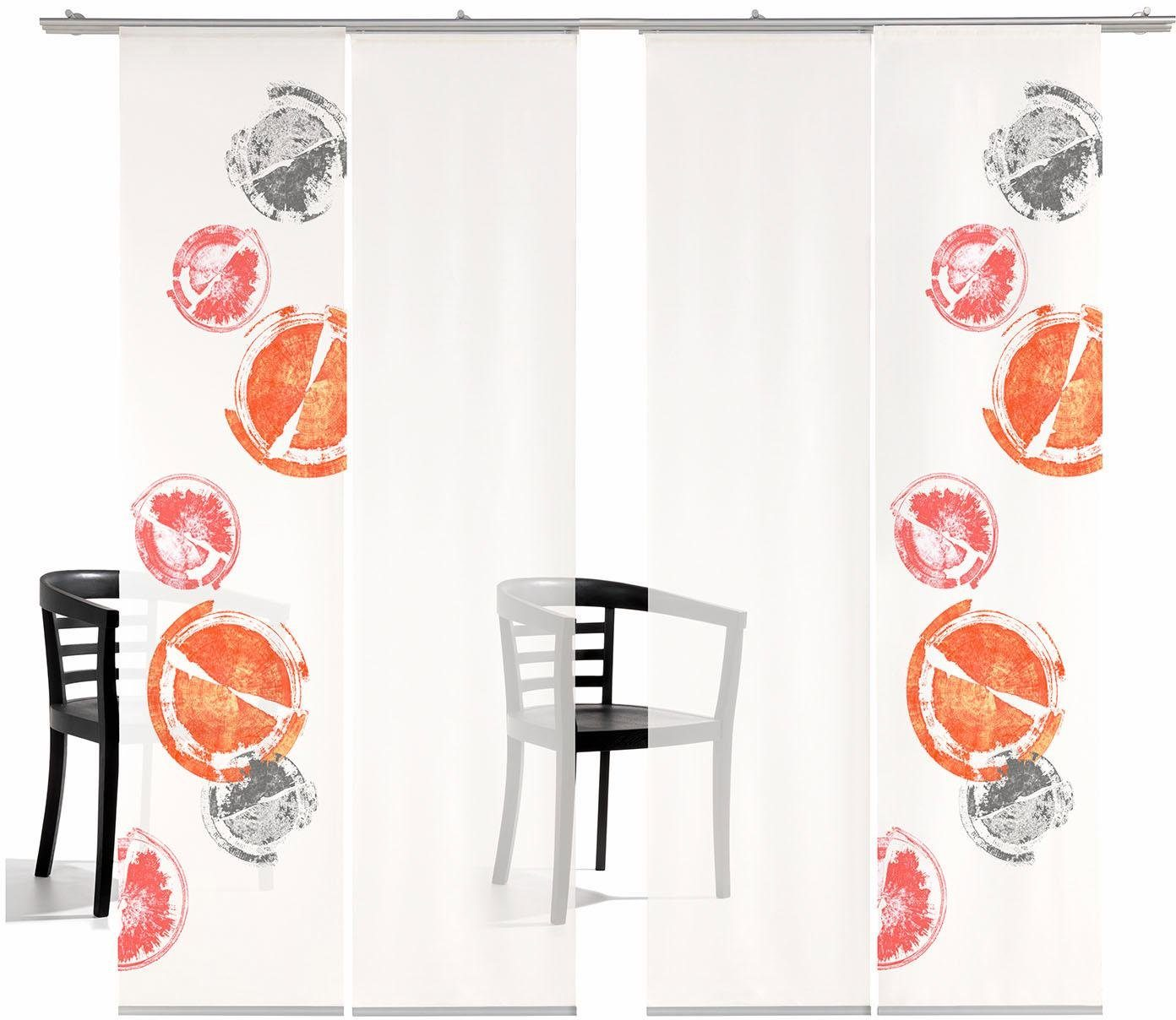 Schiebegardine »Rondo TR«, emotion textiles, Klettband (4 Stück), inkl. Befestigungszubehör