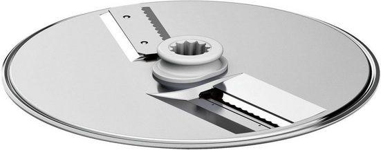 BOSCH Schneidwendescheibe SuperCut Scheibe MUZ9SC1, Zubehör für Durchlaufschnitzler (MUZ9VL1) der Bosch Küchenmaschine OptiMUM