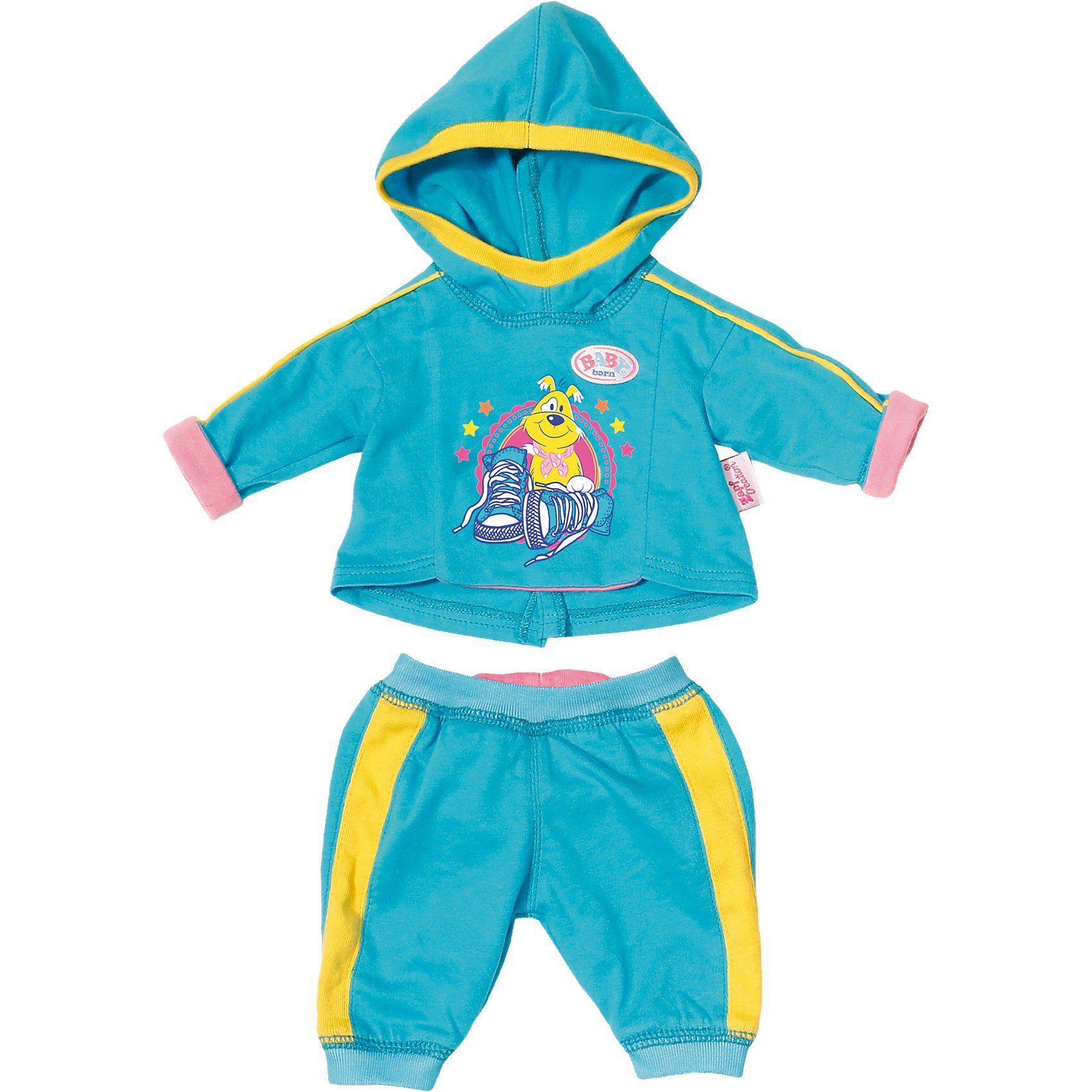 Zapf Creation® BABY born® Jogginganzug Blau Puppenkleidung, 43 cm