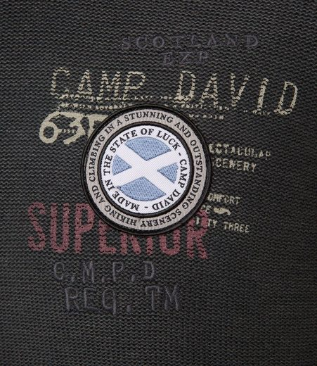 CAMP DAVID Stehkragenpullover