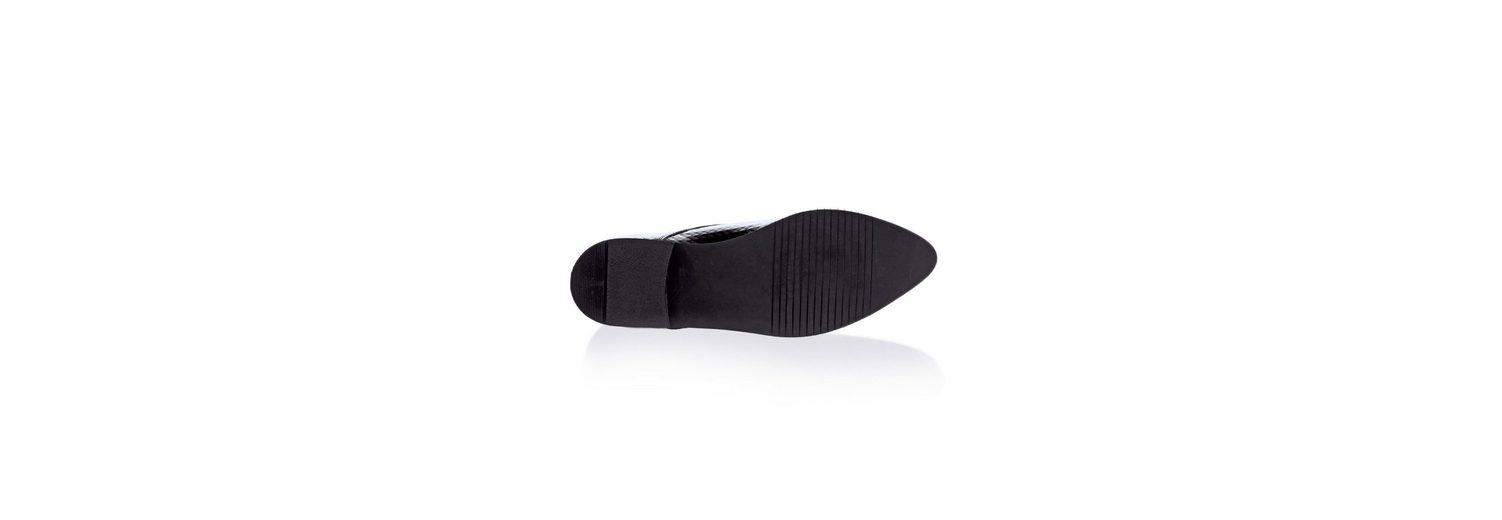Alba Moda Schnürschuh aus strukturiertem Lackleder Verkauf Zum Verkauf CKxEW