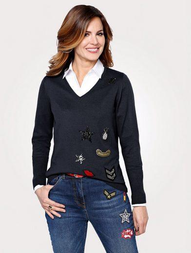 Mona Pullover mit trendigen Patches