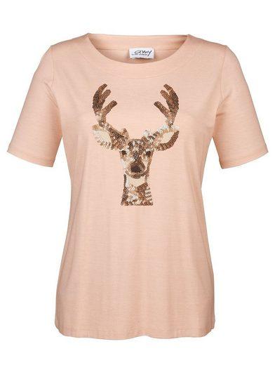 Amy Vermont Shirt mit Paillettenmotiv im Vorderteil