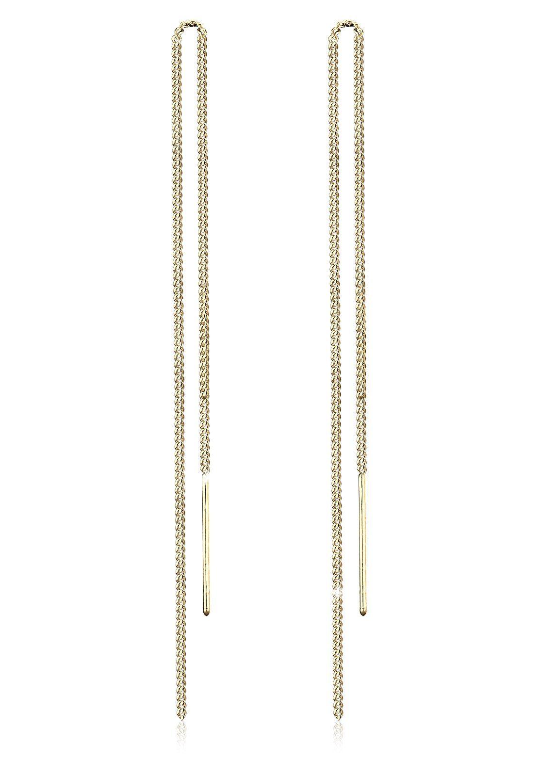 GOLDHIMMEL Ohrringe »Kette Elegant Trend Filigran 925 Silber vergoldet«