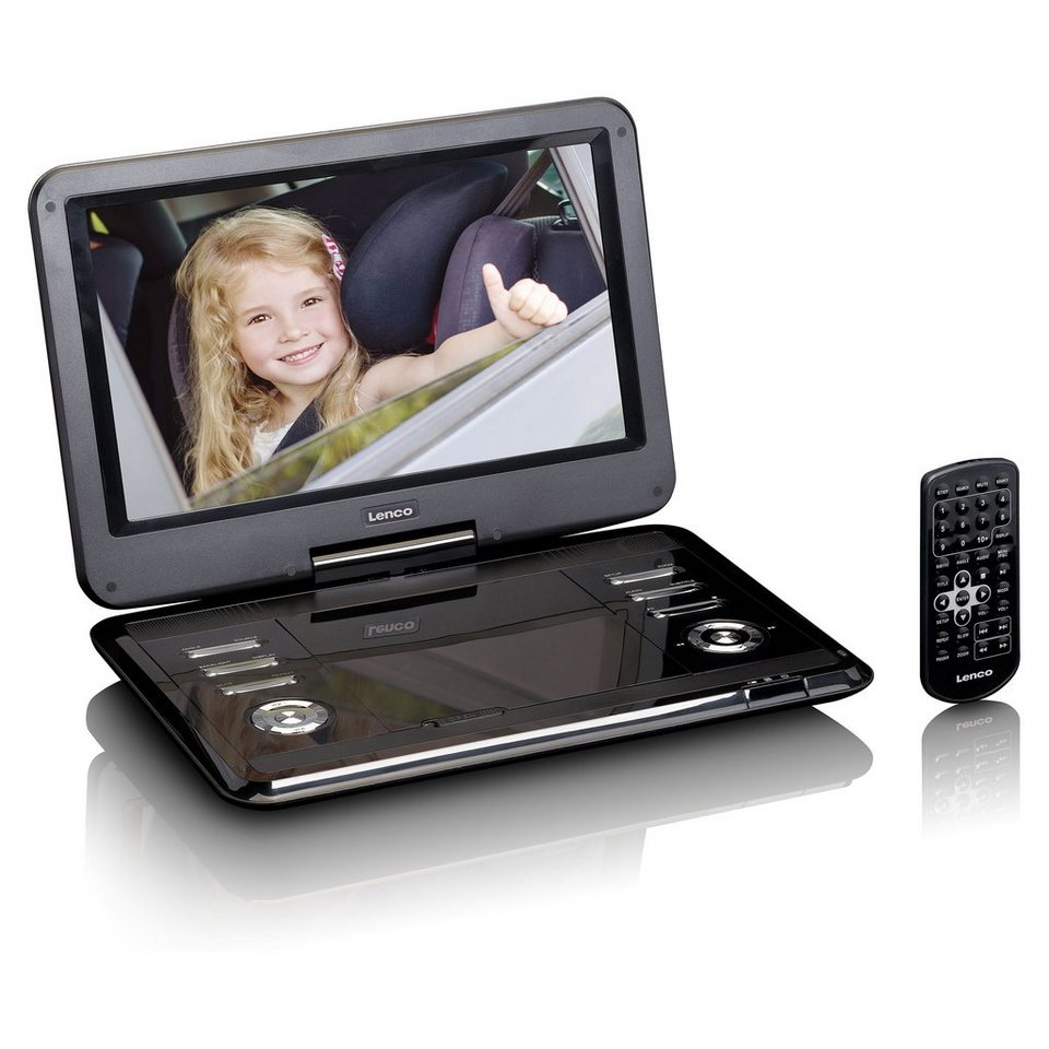 lenco tragbarer dvd player mit 12 tft und hd aufl sung. Black Bedroom Furniture Sets. Home Design Ideas